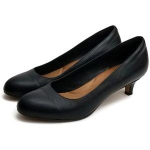 Clarks Artisian Black Leather Pumps Shoes 8M